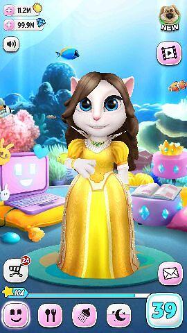 Игры моя говорящая Анжела, играть онлайн кошка